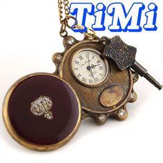 wholesale Unisex Vintage Copper Pocket Watch Mechanical Key-Wind freeship