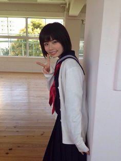 Japanese School Uniform, School Uniform Girls, Girls Uniforms, Bao Buns, Actresses, Cute, Beauty, Beautiful, Image