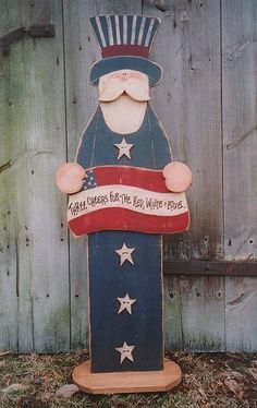 4th Of July Wooden Door Hangers