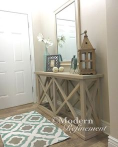 rustic farmhouse entryway table. от ModernRefinement на Etsy