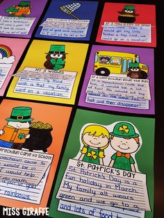 St. Patrick's Day writing prompts galore! Click to get a bunch of St. Patrick's Day writing ideas!