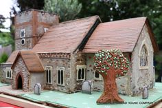 St Peter`s church in Ightham, made for a wedding, all edible in gingerbread.