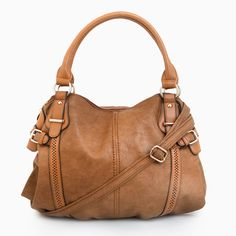 Brown Leather purse shoulder bag. I want this!