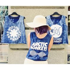 I bet that you look good on the dancefloor Batik style, blue rock band croptop collection. Black Tank Tops, Crop Tops, 5secondsofsummer, Blues Rock, Arctic Monkeys, Perfect Woman, Lace Tops, Budapest, Your Style