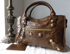 bc1f64d82 Balenciaga City in Truffle Brown Chevre Goatskin with Giant 21 Gold  Hardware - SOLD