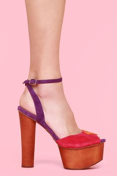 70'S inspired platforms by Jeffrey Campbell