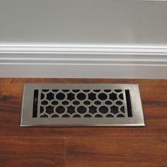 Unikwities Art Nouveau Satin Nickel Finish Solid Cast Brass 4 x 10-inch Floor Register