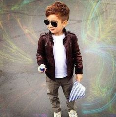 I could really see my son wearing this. Boys fall fashion/kid fashion