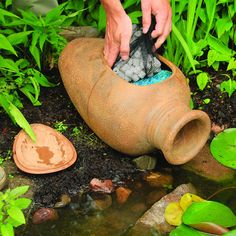 The Aquascape Pond Filter Urn is ideal for smaller ponds, including preformed ponds or container water gardens. The Aquascape Pond Filter Urn can easily be incorporated into existing ponds with a 0.5