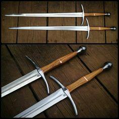 Pair of longswords [ Swordnarmory.com ] #armaments #weapons #swords