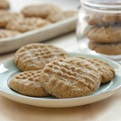 Peanut Butter Cinnamon Cookies-Everyone's favorite cookie gets a double hit of cinnamon. Cinnamon is added to the dough and the balls of cookie dough are rolled in a cinnamon-sugar mixture before they are flattened with the traditional crisscross pattern. Cookies Cupcake, Yummy Cookies, Yummy Treats, Sweet Treats, Cupcakes, Mccormick Recipes, Cookie Recipes, Dessert Recipes, Cookie Ideas