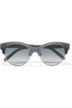 Chloé | Boxwood cat-eye acetate and metal sunglasses | NET-A-PORTER.COM