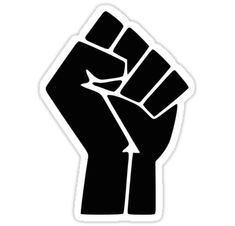 Golf Tips Swings Raised Fist / Black Power Symbol Stickers - The raised fist symbolizes revolution and defiance, it is used by various movements including black power and occupy. Black Power Symbol, Fist Tattoo, Black Lives Matter Quotes, Raised Fist, Filipino Tattoos, Protest Signs, Black Art, Black History, Symbols