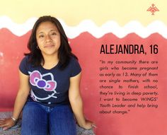 Meet Alejandra who wants to become WINGS' Youth Leader!