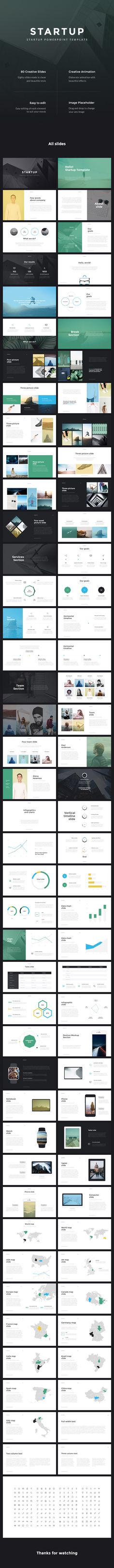 Startup - Pitch Deck PowerPoint Template - Business #PowerPoint Templates