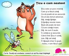 ticu e cam neatent 4 Kids, Children, School Coloring Pages, Kids Poems, Nursery Rhymes, Preschool Activities, Winnie The Pooh, Disney Characters, Fictional Characters