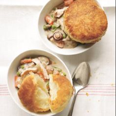 Real Simple's Slow Cooker Creamy Chicken and Mushroom Pot Pie- It's cooking away right now! :)