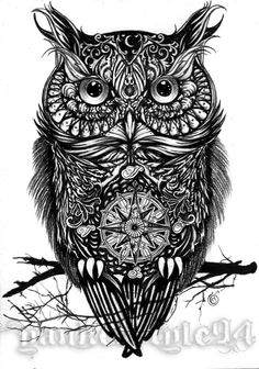 Owl TATTOO by Yankeestyle94