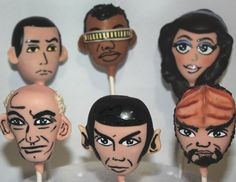 Star Trek Cake Pops