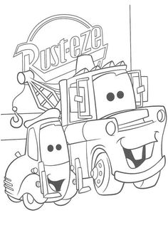 Cars printable coloring pages for the kiddies Pinterest Cars