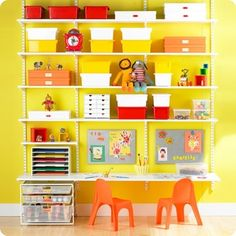Great ideas for kids craft spaces.