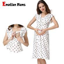 e18502f7a Emoción mamás ropa de maternidad de maternidad del verano vestidos de  lactancia enfermería dress vestidos para