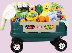 Whirling Wagon - let's be honest. And this is just FILLED with them! Nutcracker Sweet, Gift Baskets, Baby Love, Toy Chest, Storage Chest, Baby Gifts, Babies, Toys, Home Decor