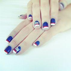 Good idea for Team nails (painting the ring finger with the team initials or mascot)