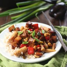 This vegan kung pao tofu is made with caramelized baked tofu bits in a spicy sauce with peanuts and stir-fried veggies. Later, takeout!