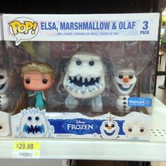 Marshmallow Monster Elsa and Olaf Frozen Funko Pop Figures - Walmart Exclusive