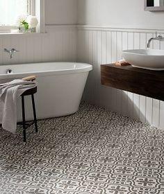 Bathroom Floor Tiles at Topps Tiles. Loft Bathroom, Bathroom Floor Tiles, Bathroom Renos, Budget Bathroom, Bathroom Interior, Room Tiles, Bathroom Ideas, Tile Floor, Bathroom Mirrors