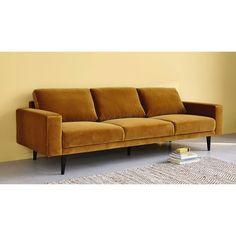 4 seater velvet sofa in green Clark   Maisons du Monde