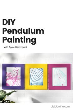 Make DIY pendulum art! All you need is a plastic cup, strings, a surface, and Apple Barrel paint. Create one of a kind art that is as much fun to make as it is to display!