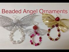 Simple and beautiful beaded angel ornament. Recycle Christmas ribbon to create these gorgeous hanging decorations. Great gift for teachers, friends and family. Very easy to make. Materials: beads (variety of beads different shapes and sizes; approx. 6mm). Ornament,