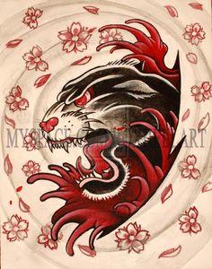 old school black panther tattoo - Google zoeken