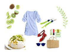 """KIWI"" by suninvirgo ❤ liked on Polyvore featuring Nannacay, MAC Cosmetics, Versace, Per-fékt Beauty and GREEN"
