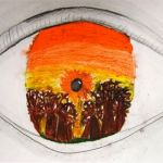 love this!   great for value on eye - creative way to show what you see as art!