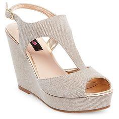 Women's Betseyville Ryatt Glitter Mesh Platform Wedge Sandals -