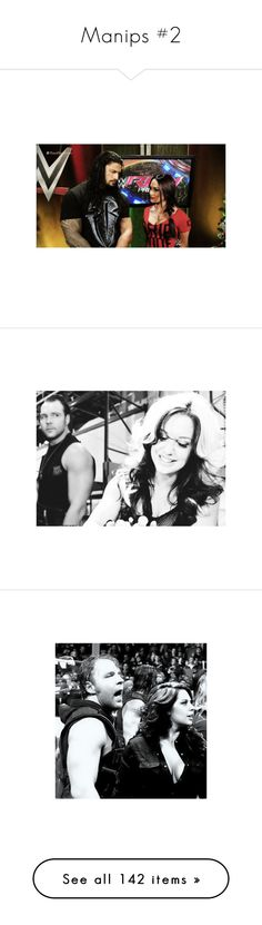 """""""Manips #2"""" by bvblunaticfringe ❤ liked on Polyvore featuring manips, manip, wwe, dean ambrose, home, home decor and wwe couples"""