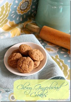 Chewy Gingerbread Cookies Recipe #cookies #recipe