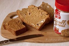Biscoff White Chocolate Chip Quick Bread via @Barbara Bakes {Barbara Schieving}