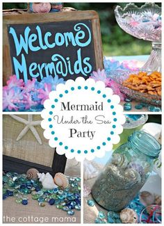 The Cottage Mama: Mermaid Under the Sea 4th Birthday Party with Free Printable.