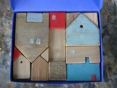 polka dot Wooden house puzzle