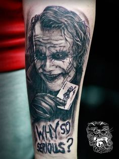 Joker, why so serious tattoo - Malan Tattoo Dublin, Michal Malanowski, realism master