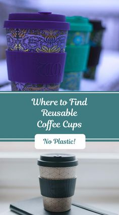 These reusable coffee cups are perfect for ditching plastic for good and becoming a sustainable citizen. Disposable Coffee Cups, Take Away Cup, Nature Color Palette, Reusable Coffee Cup, Help The Environment, Travel Cup, No Plastic, Iced Tea, Geometric Designs