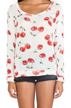 Lauren Moshi Brenna All Over Cherry Pullover in All Over Cherry