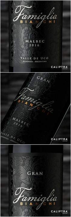 Label Design for Malbec 2016 from the Viticultural Region Southwest of Mendoza in Argentina Design Agency: Caliptra · creative Studio Brand / Project Name: Packaging Design Location: Argentina Category: #Wine #Drink World Brand & Packaging Design Society