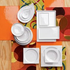 modern white square dinnerware | Modern Dinnerware - Top Picks by Designer Lillian Pikus | Dining and ...