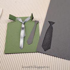Kristinas kortblogg: Tutorial på bordkort formet som skjorter Paper Crafts, Diy Crafts, Fathers Day Cards, Origami, Sewing, Handmade Cards, Gem, Scrapbooking, Craft Cards