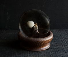 Glass Display Globe with Rustic Wooden Base by TheVintageParlor, $38.00